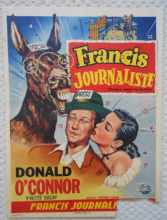 Francis Covers the Big Town, Orig Belgian Movie Poster, Donald O'Connor, '53
